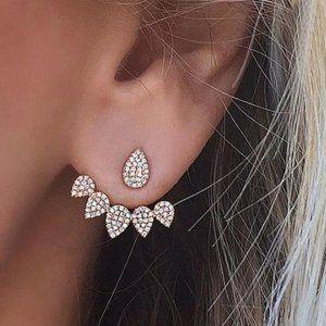 Jewelry - 3/$25 Jewelry!! Silver Pear Shaped Earrings
